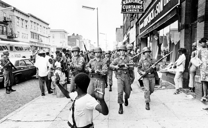National Guard attempt to quell uprising in Detroit, circa 1967.